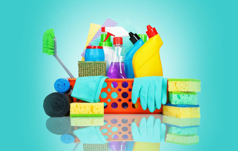 Essential bathroom cleaning products