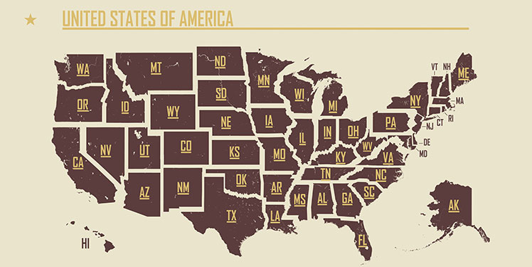 Guess these US state abbreviations