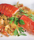 The goodness of boiled lobster
