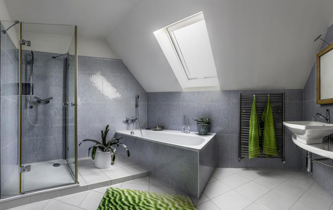 Make your bathroom luxurious with walk-in showers and tubs