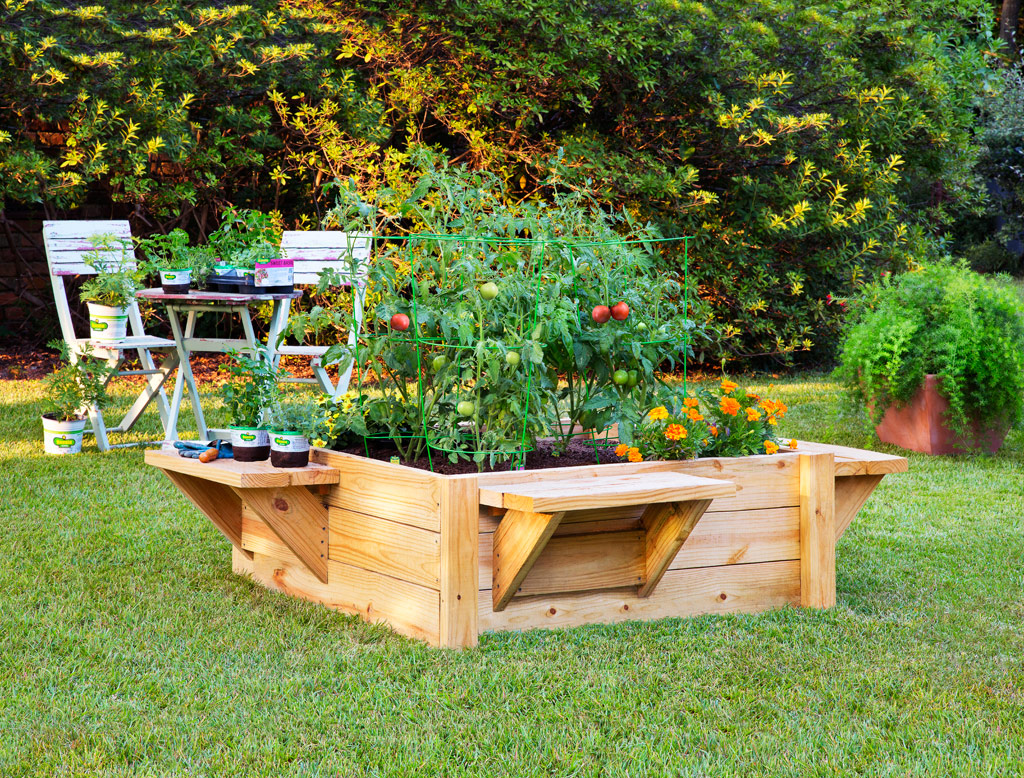 raised beds flower gardens for small homes